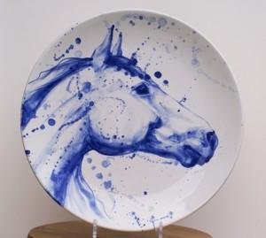 Mia Sarosi Horse Platter