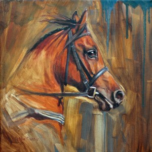 DebbieDunbar-Headstudy-of-Arabian-Racehorse