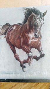 Horses Running I