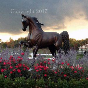 J Anne Butler - life size equine sculpture