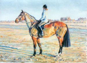 'With my mare' by Rosalind Summers